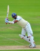 Sri Lanka batsman Thilan Samaraweera picks up some runs during day five of the 3rd npower test between England and Sri Lanka at the Rosebowl on June...