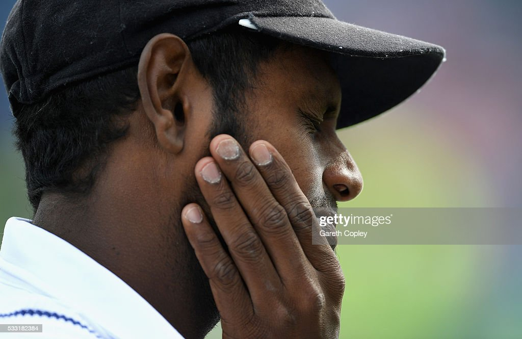 Sri Lanka captain Angelo Mathews after losing the 1st Investec Test match at Headingley on May 20, 2016 in Leeds, England.