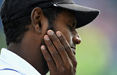 Sri Lanka captain Angelo Mathews after losing the 1st Investec Test match at Headingley on May 20 2016 in Leeds England