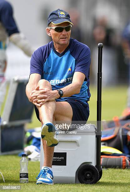 Sri Lanka coach Graham Ford during a nets session ahead of the 1st Investec Test match between England and Sri Lanka at Lord's Cricket Ground on June...