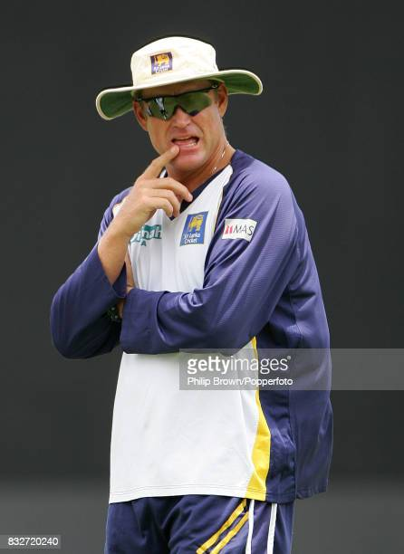 Sri Lanka coach Tom Moody during a training session before the World Cup Final between Australia and Sri Lanka at the Kensington Oval Bridgetown...