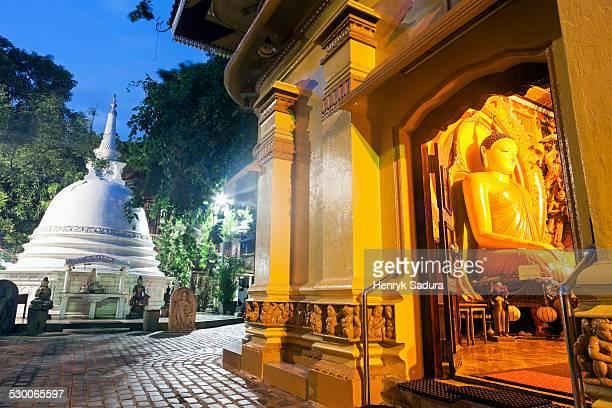 Sri Lanka, Colombo, Budda statue in Gangaramaya Temple