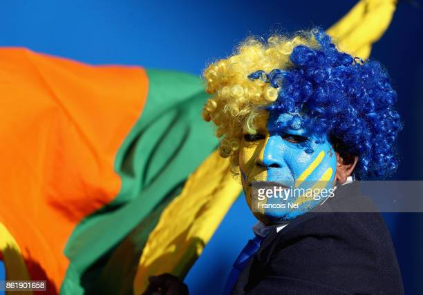 Sri Lanka fan looks on during the second One Day International match between Pakistan and Sri Lanka at Zayed Cricket Stadium on October 16 2017 in...