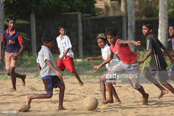 LKA Sri Lanka Uswetaketyawa The Salesian fight against pedophilia and helps the young boys to get education Children play football