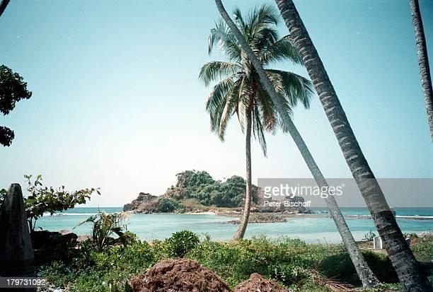 Sri Lanka/Asien/Indischer Ozean Reise Strand SüdWestKüste Wasser Meer Palmen Insel