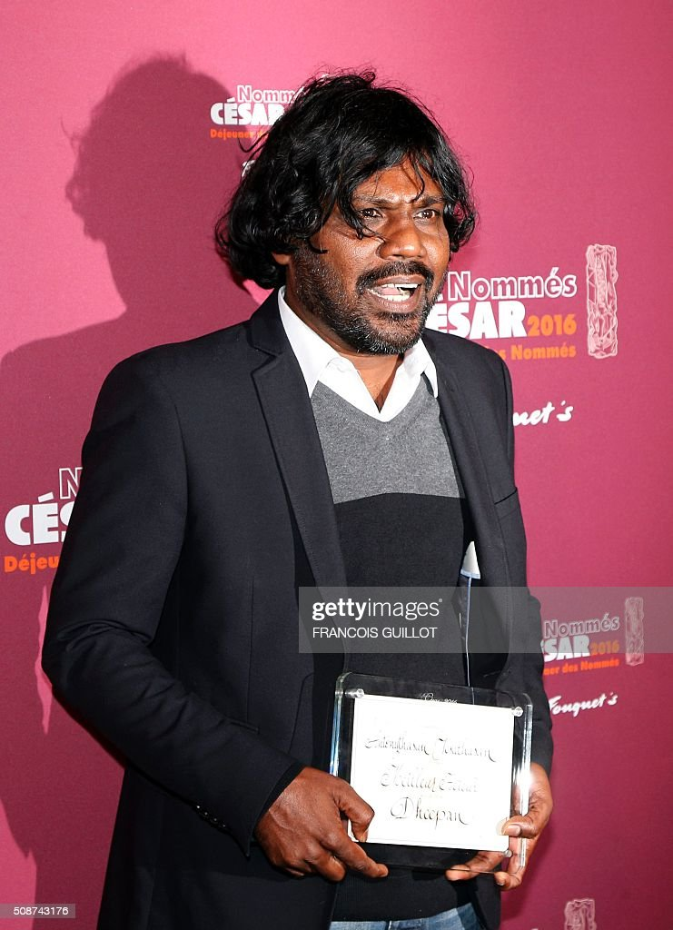 Sri Lankan actor Antonythasan Jesuthasan, nominated as Best Actor, poses during the nominations event for the 2016 César film awards, on February 6, 2016 in Paris. The 41st Ceremony for the Cesar film award, considered as the highest film honour in France, will take place on February 26, 2016. / AFP / FRANCOIS GUILLOT