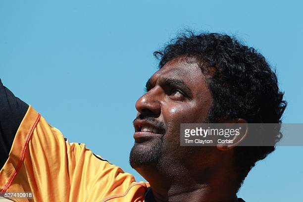 Sri Lankan cricket legend and World Record wicket taker Muttiah Muralidharan during warm up before bowling in the Otago Voltz V Wellington Firebirds...