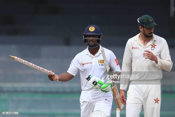 Sri Lankan cricketer Asela Gunaratne who ensured Sri Lankan cricket team pull off the highest successful run chase in a test match in Asia walks away...