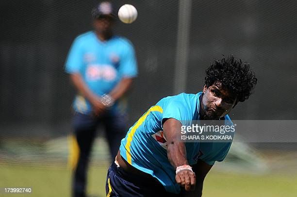 Sri Lankan cricketer Shaminda Eranga delivers a ball during a practice session in Colombo on July 19 2013 Dinesh Chandimal will become Sri Lanka's...