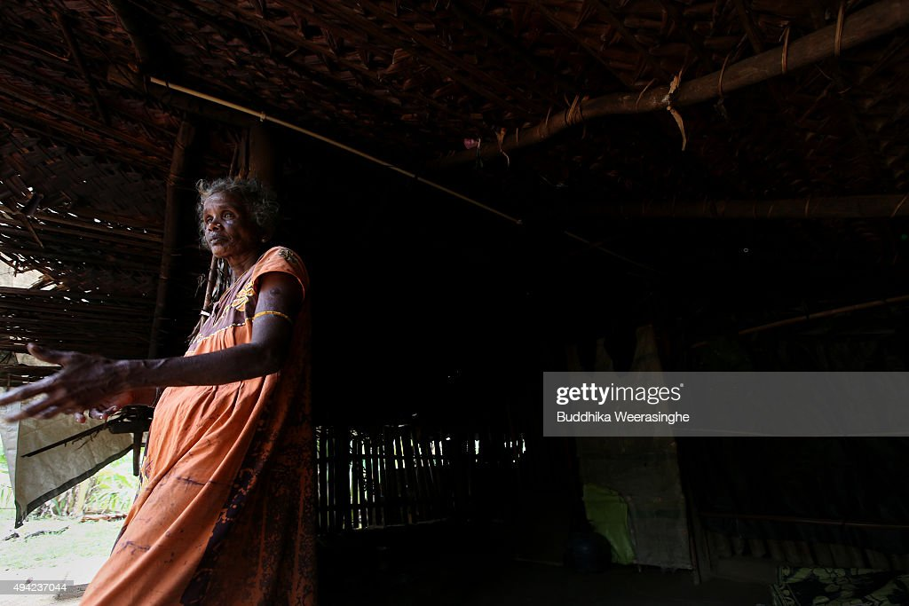 Sri Lankan ethnic Tamil woman named Krishna Lingam Joegeswary 53 years stands at her residence on October 25 2015 in Kilinochchi Sri Lanka Joegeswary...