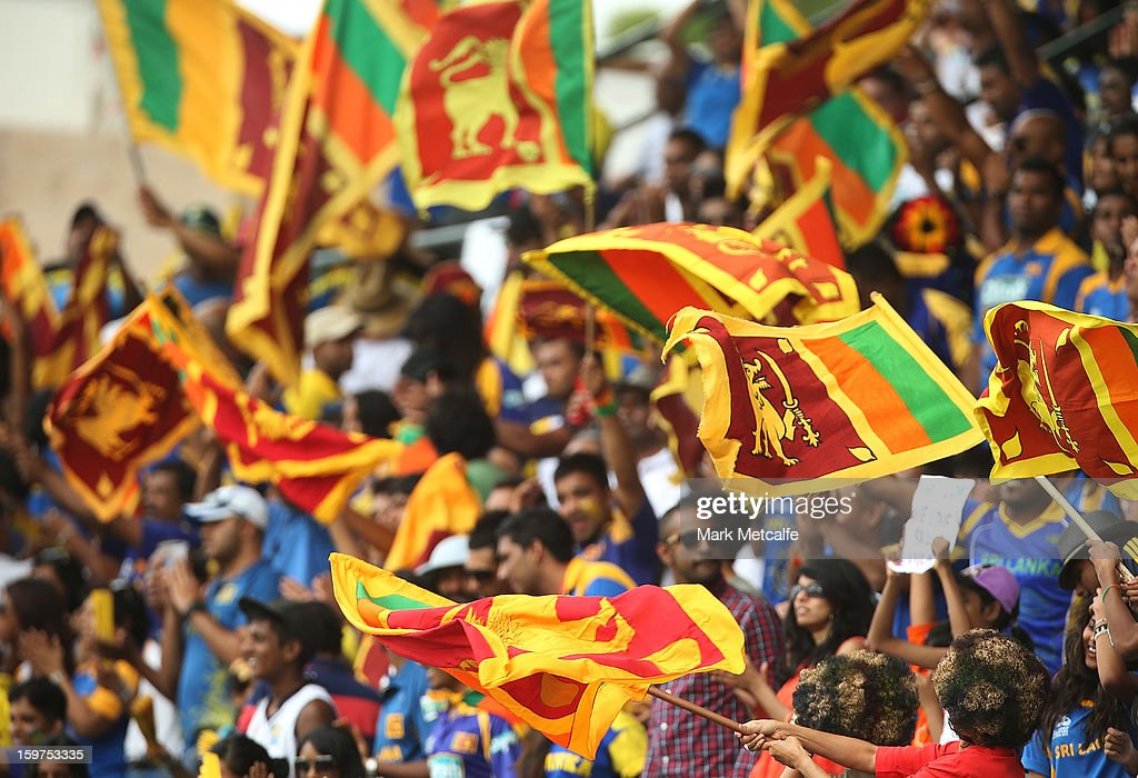 Sri Lankan fans cheer during game four of the Commonwealth Bank one day international series between Australia and Sri Lanka at Sydney Cricket Ground on January 20, 2013 in Sydney, Australia.