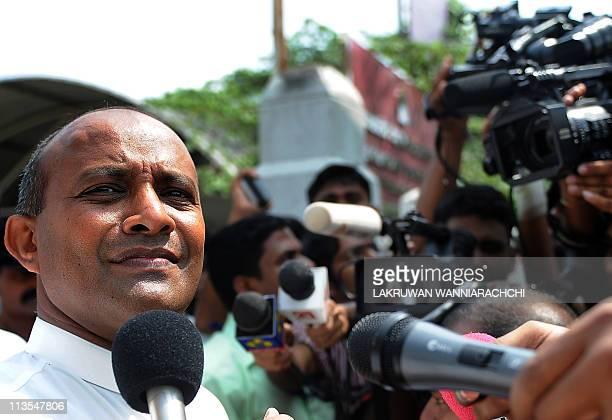 Sri Lankan former international cricket captain Hashan Tillakaratne speaks to the media in Colombo on May 3 2011 Sri Lanka's former international...
