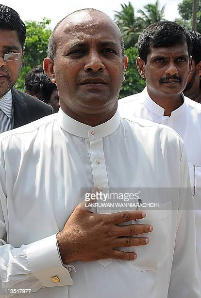 Sri Lankan former international cricket captain Hashan Tillakaratne speaks to the media in Colombo on May 3 2011 Sri Lanka's former international...