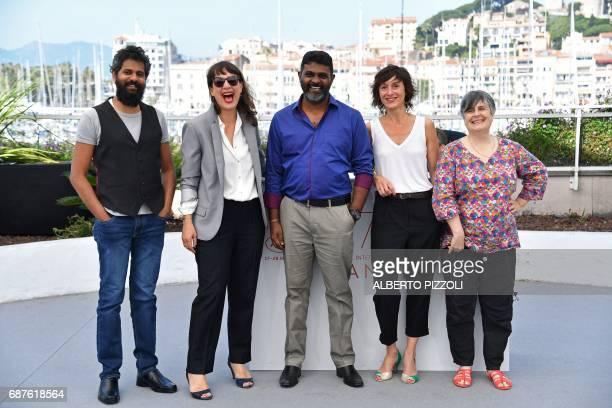 TOPSHOT Sri Lankan music composer Dharsan Rajkumar French producer Julie Paratian Sri Lankan director Jude Ratnam French editor Jeanne Oberson and...
