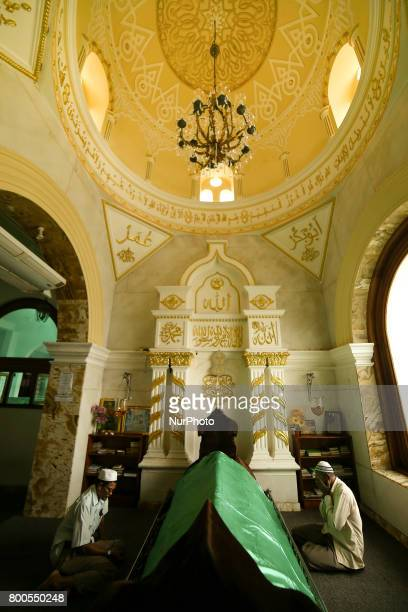 Sri Lankan Muslim men offer prayers inside a mosque in Colombo Sri Lanka on Saturday 24 2017Muslims across the world are marking the holy month of...