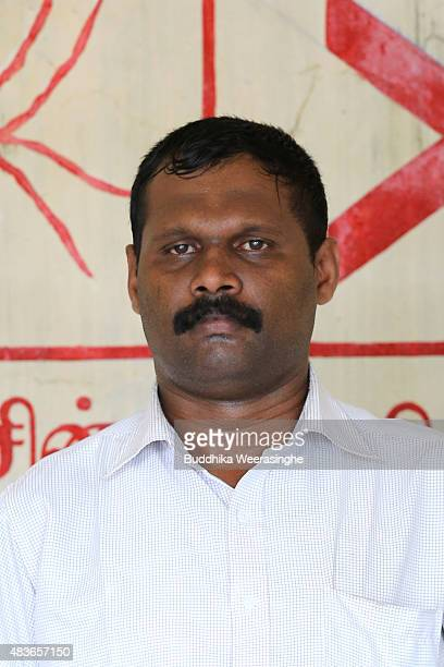 Sri Lankan parliamentary election candidate and minority ExTamil rebel carder Sivanthan Navidra aka Venthan a former bodyguard of the slain Tamil...