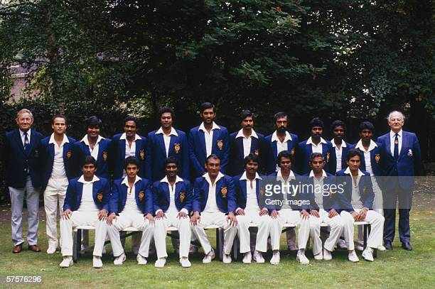 Sri Lankan players line up for a team group taken during the Sri Lanka Photo Call held in August 1984 in London This was to be their first ever test...