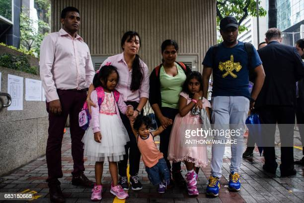 Sri Lankan refugee Ajith Puspa Filipino refugee Vanessa Rodel her daughter Keana Sri Lankan refugee Nadeeka her partner Supun Thilina Kellapatha and...
