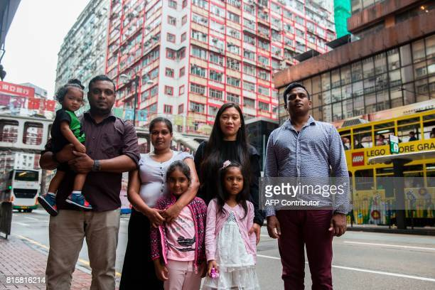 Sri Lankan refugee Ajith Puspa Filipino refugee Vanessa Rodel with her daughter Keana Sri Lankan refugees Nadeeka Nonis with her partner Supun...