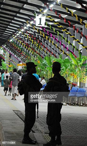 Sri Lankan special forces commandos keep watch at a rebuilt railway station in Jaffna the capital of Sri Lankas northern province October 12 a day...