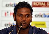 Sri Lanka's cricket captain Angelo Mathews addresses a press conference in Colombo on August 5 2015 India will play three Test Series in Sri Lanka...