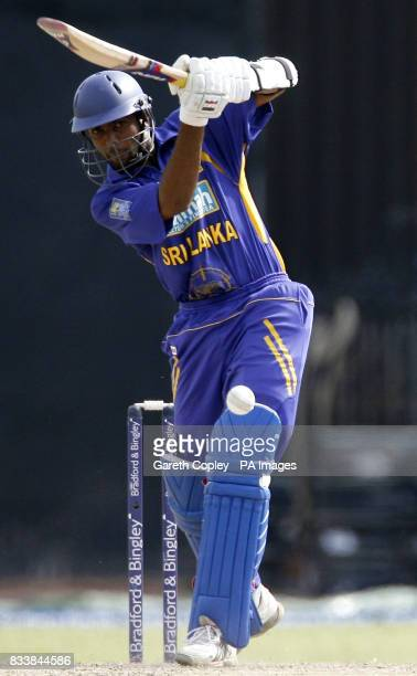 Sri Lanka's Dilruwan Perera in action during the Fifth One Day International at R Premadasa Stadium Colombo Sri Lanka