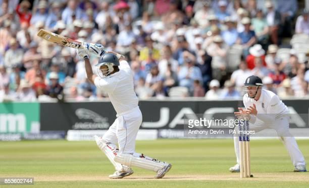 Sri Lanka's Kumar Sangakkara bats during day three of the Investec Test match at Lord's Cricket Ground London