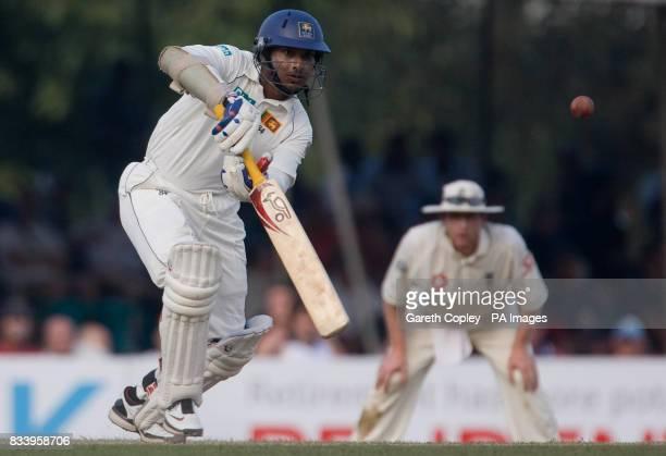 Sri Lanka's Kumar Sangakkara bats during the first Test match at Asgiriya International Stadium Kandy