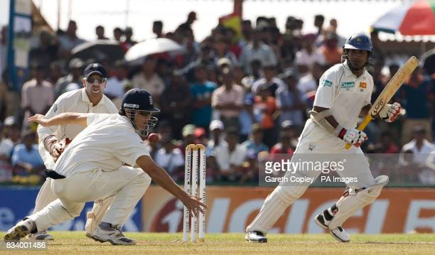 Sri Lanka's Kumar Sangakkara bats during the Third Test Match at Galle International Stadium Galle Sri Lanka