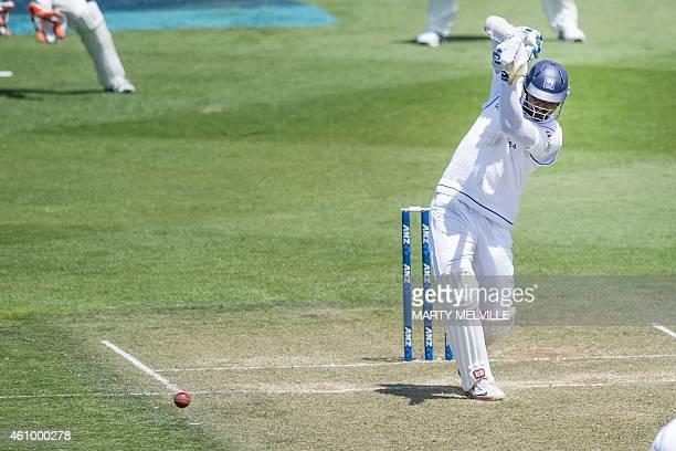 Sri Lanka's Kumar Sangakkara bats on day two of the second international Test cricket match between New Zealand and Sri Lanka at the Basin Reserve in...