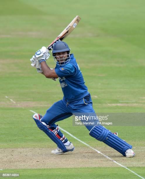Sri Lanka's Kumar Sangakkara batting during the Fourth One Day International at Lords Cricket Ground London