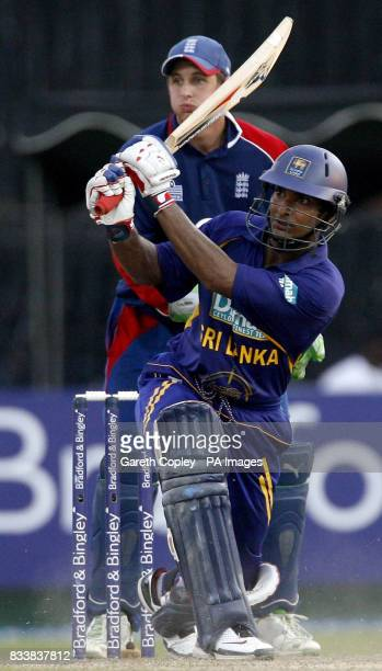 Sri Lanka's Kumar Sangakkara during the Fourth One Day International at R Premadasa Stadium Colombo Sri Lanka