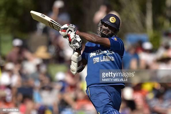 Sri Lanka's Lahiru Thirimanne plays a shot during the fifth oneday International cricket match between New Zealand and Sri Lanka in Dunedin at...