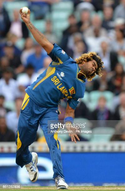 Sri Lanka's Lasith Malinga bowls during the ICC Champions Trophy match at The Kia Oval London
