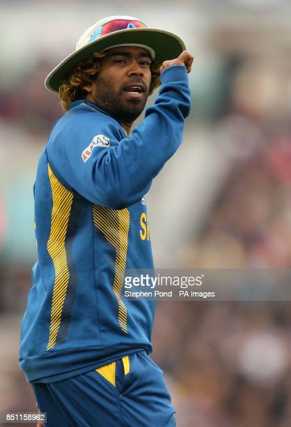 Sri Lanka's Lasith Malinga during the ICC Champions Trophy match at The Kia Oval London