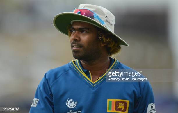 Sri Lanka's Lasith Malinga during the ICC Champions Trophy match at The Oval London