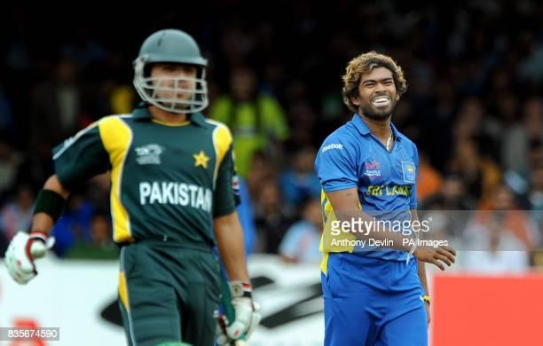 Sri Lanka's Lasith Malinga during the match against Pakistan