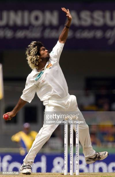 Sri Lanka's Lasith Malinga during the Second Test at the Sinhalese Sports Club Ground Colombo Sri Lanka
