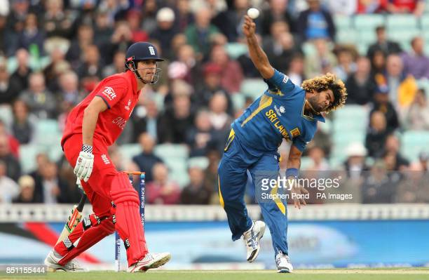 Sri Lanka's Lasith Malinga in action during the ICC Champions Trophy match at The Kia Oval London
