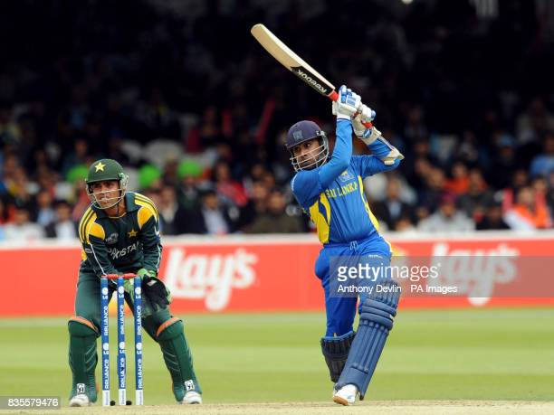 Sri Lanka's Mahela jayawardene is caught by Shahid Afridi off the bowling of Saeed Amjal during the ICC World Twenty20 Super Eights match at Lord's...