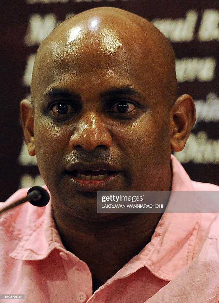 Sri Lanka's new chief cricket selector Sanath Jayasuriya speaks to reporters in Colombo on January 30, 2013. Jayasuriya, who is also a ruling party member of parliament, said he wants to ensure more 'passion for the game' among players in the national team.