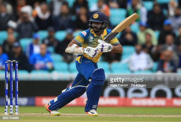 Sri Lanka's Niroshan Dickwella during the ICC Champions Trophy Group B match at The Oval London