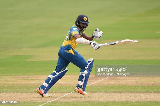 Sri Lanka's Niroshan Dickwella in action during the ICC Champions Trophy Group B match at Cardiff Wales Stadium