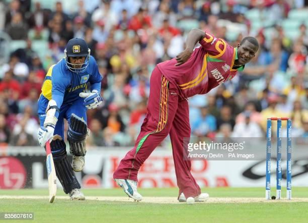 Sri Lanka's Sanath Jayasuriya avoids a run out during the ICC World Twenty20 Semi Final at The Oval London