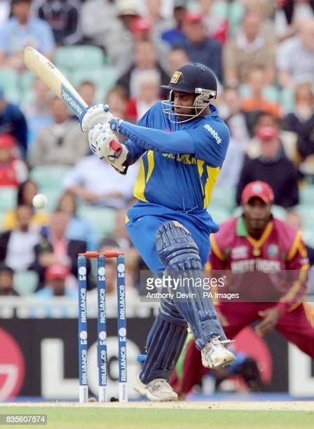 Sri Lanka's Sanath Jayasuriya bats during the ICC World Twenty20 Semi Final at The Oval London
