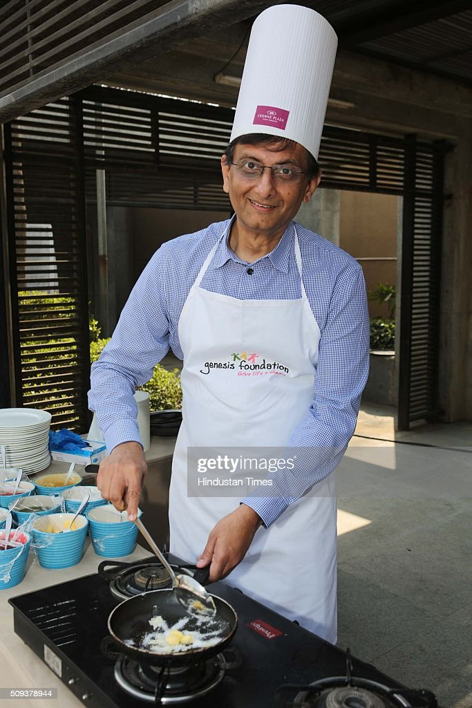 Sri Rajan during the 12th edition of Genesis Foundation's fund raiser, 'CEOs Cook For GF Kids' to support better life for underprivileged kids, top corporate honchos got together to raise funds through a charity cooking session, on February 6, 2016 in Gurgaon, India. The attendees booked tables and sampled the delicious fare served by the CEO-turned-chefs.