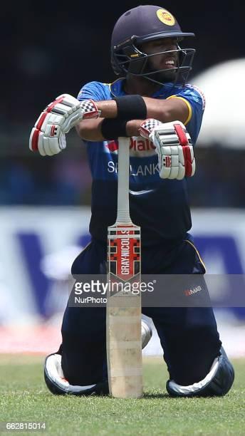 Srilanka's Kusal Mendis looks on during the third oneday international cricket match between Sri Lanka amp Bangladesh at SSC International Cricket...