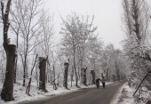 Srinagar valley receives season's first snowfall on December 22 2013 in Srinagar India The lower hills across Himachal Pradesh were lashed by rains...