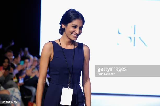 Srishti Kaur Designs fashion designer walks the runway at 2017 Vancouver Fashion Week Day 5 on September 22 2017 in Vancouver Canada