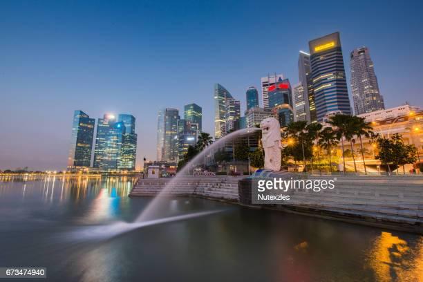 SSingapore City Skyline at Sunset